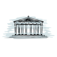 Building with columns, sketch for your design