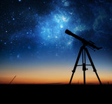 Silhouette of Telescope - 68986362