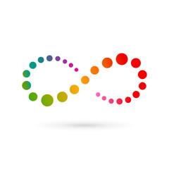 Infinity loop logo icon design template
