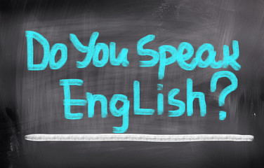 Do You Speak English Concept