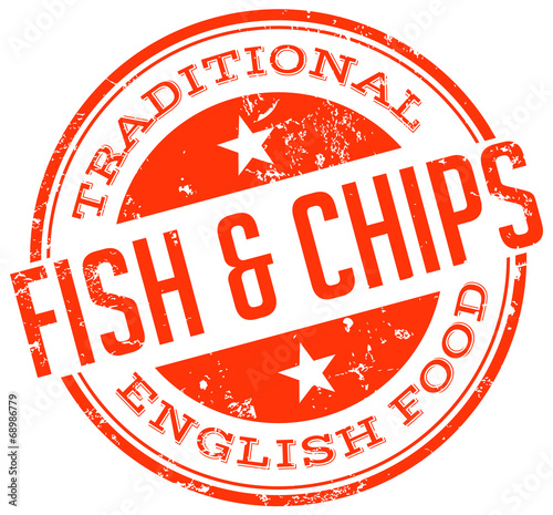 Fish and chips stamp stock image and royalty free vector for Fish symboled stamp