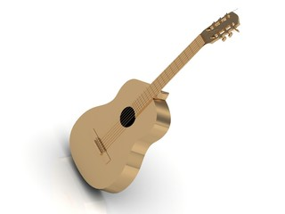 Acoustic guitar made of gold