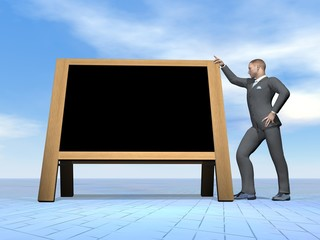 Businessman message - 3D render