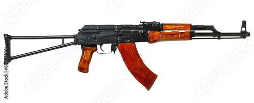 ak 47  isolated on white - 68987196