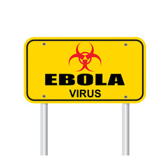 Ebola virus area sign vector