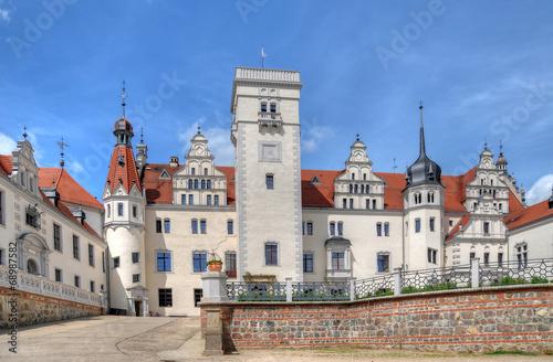 Leinwanddruck Bild Hofseite Schloss Boitzenburg