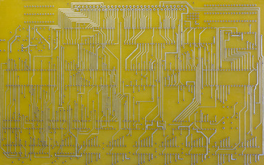 lines of connections printed circuit board