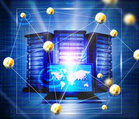 Internet network background