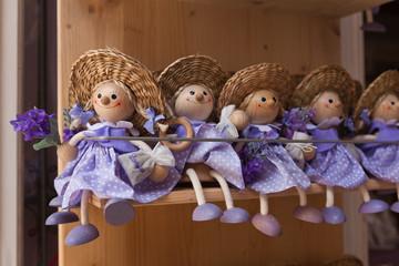 lila Lavendel Puppen im Shop