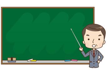 男性 教師 コピースペース