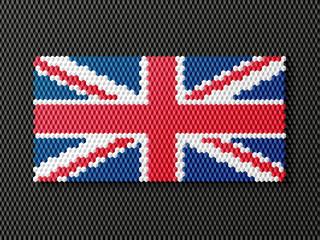 British flag consisting of 3d cubes