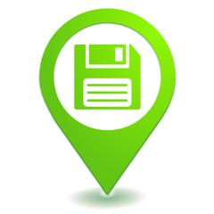enregistrer disquette sur symbole localisation vert
