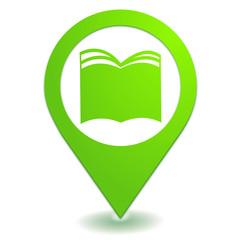 livre sur symbole localisation vert