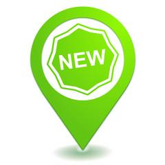 nouveau sur symbole localisation vert