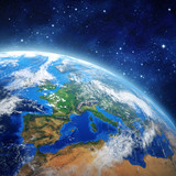 planet earth in outer space - 68989786