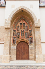 Portal of Church of St. Mark (XIII c.). Croatia