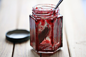empty jar of jam