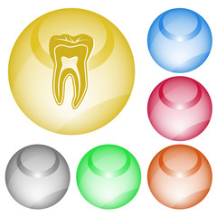Tooth. Vector interface element.