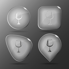 Goblet. Glass buttons. Vector illustration.