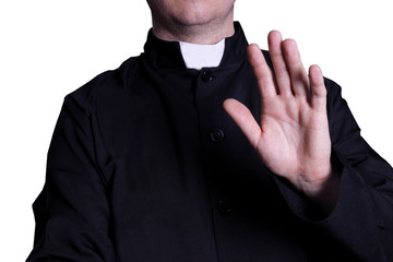 priest on white background