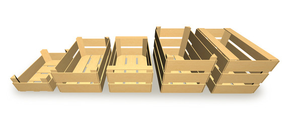Boxes for fruit and vegetable packaging.