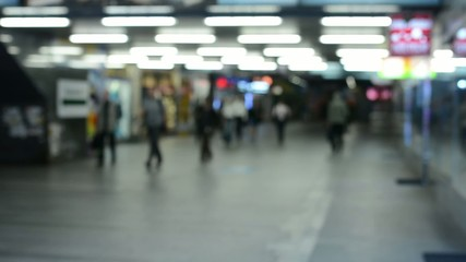 commuter people - people in the subway - blurred shot