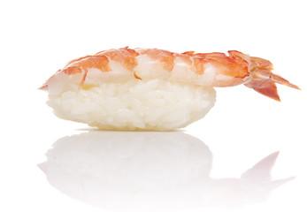 Shrimp sushi nigiri isiolated on white background