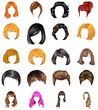 Hair styles collection vector - 68992720