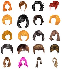 Hair styles collection vector