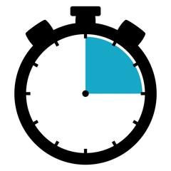 Stoppuhr: 15 Minuten / 15 Sekunden / 3 Stunden