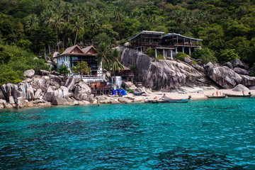 Tropical resort at Ko Tao, Thailand