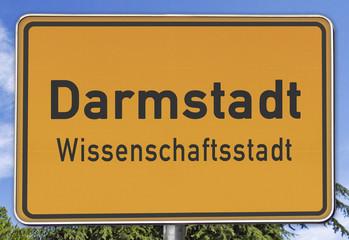 Darmstadt, Ortsschild