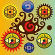 Постер, плакат: Набор символических глаз
