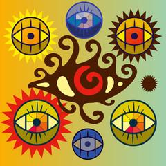 Набор символических глаз.