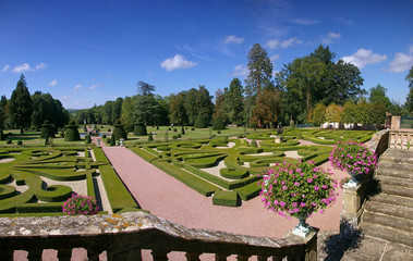 Classic French formal garden