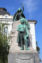 Ljubljana, Prešeren Monument (summer 2014)