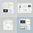 Collection: set of portfolio website templates
