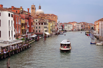 Italy, Venetian landscape: Grand Canal at sunset