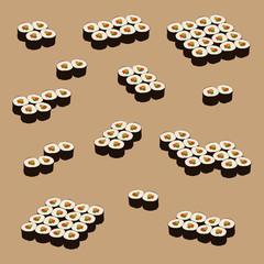 sushi set icons, vector illustration
