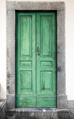 antico portoncino verde