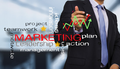 businessman and strategy marketing concept
