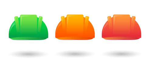 Work helmet color set