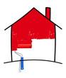 Haus Pinsel rot
