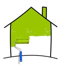 Haus Pinsel grün