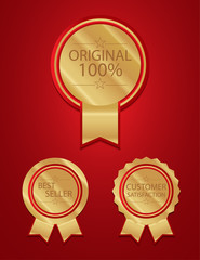 Red 100 badges