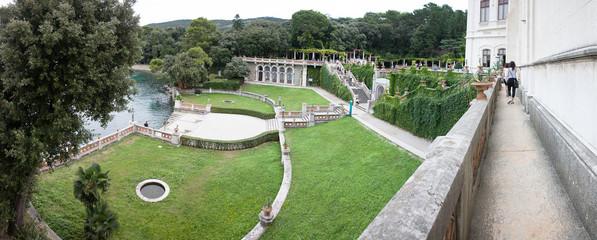 Panorama del castello di Miramare