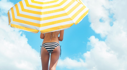 Sun protection and summer body care concept