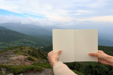山の上で読書