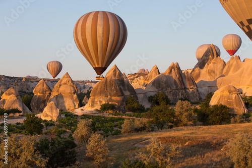 In de dag Ballon Cappadocia, the flight with the balloon at sunrise