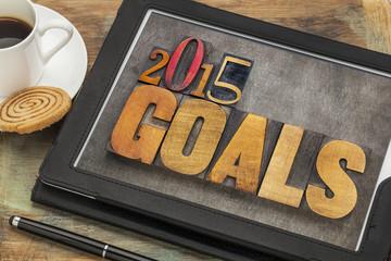 2015 goals on digital tablet